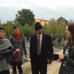 Prof Pradeep visiting Giardineria Italiana, Social Enterprise in Pistoia