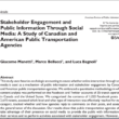 Published an article about stakeholder engagement through social media by Canadian and American public transportation agencies
