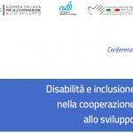 Conferenza Disabilità e Cooperazione