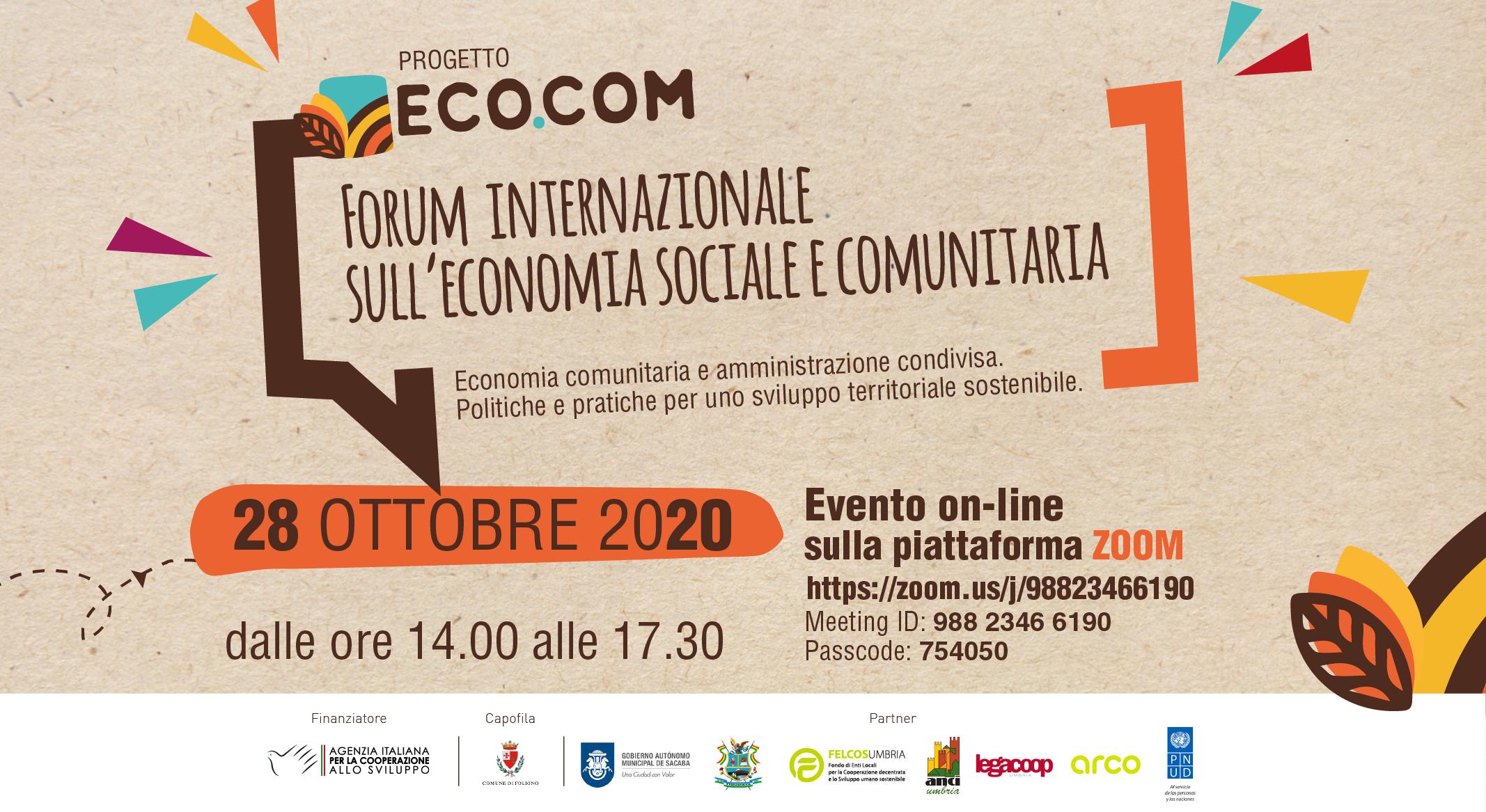 ECO COM forum sull'Economia Comunitaria bolivia valutazione