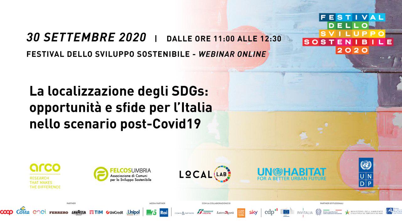localizzazione degli SDGs localization local development covid 19 recovery ripresa arco arcolab
